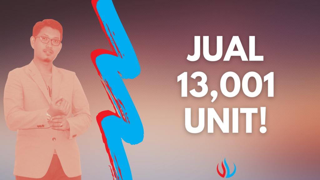 Jual 13,001 unit!