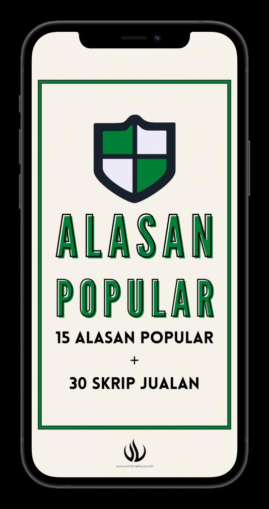 15 Alasan Popular + 30 Skrip Jualan